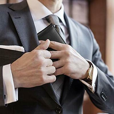 US Mens Clip Slim RFID Blocking Leather Bifold Wallet