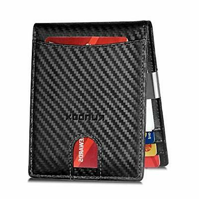 mens with money clip bifold genuine leather
