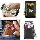 Palm West Leather Minimalist Leather Money Clip Wallet With