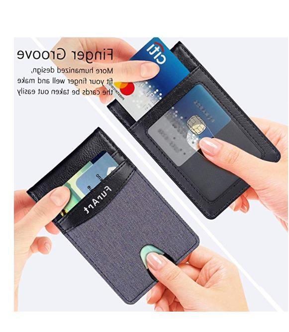 Minimalist Leather Slim RFID Card Money