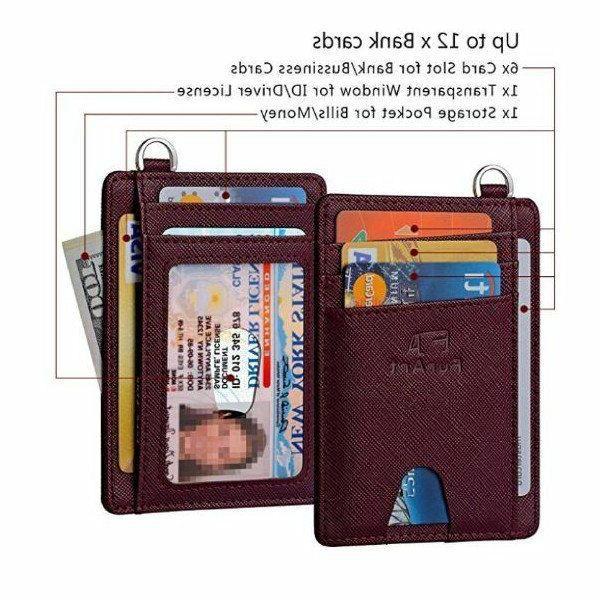 Minimalist Leather Wallet RFID Pocket Card Holder