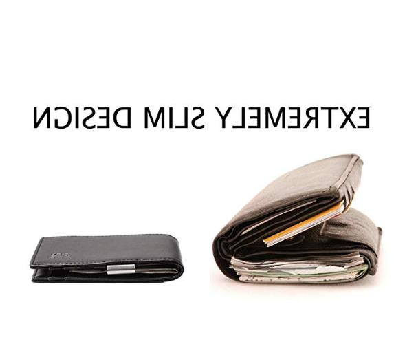Minimalist Slim Wallet Money Clip Holder For 11 color