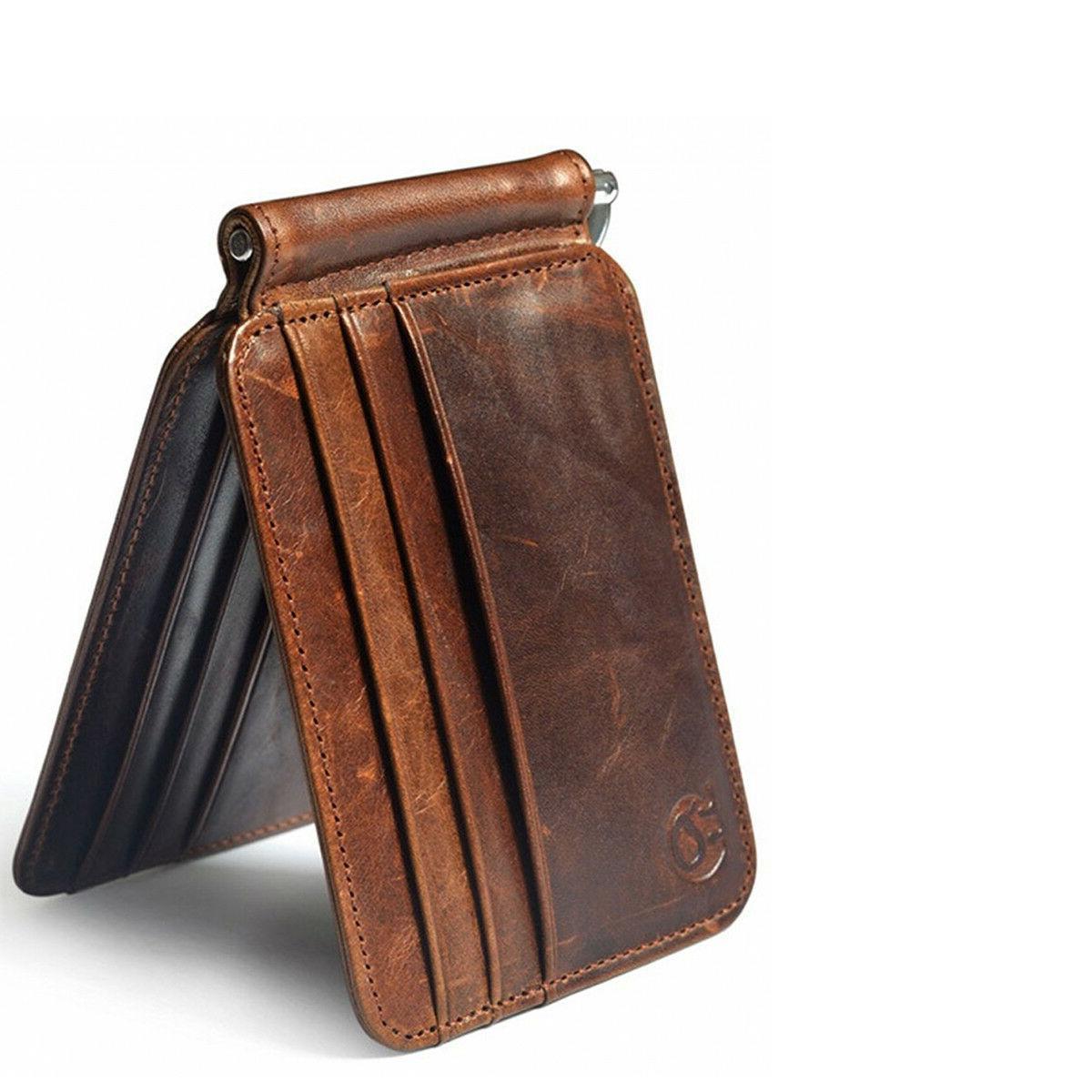 Money Clip Minimalist Vintage Wallet