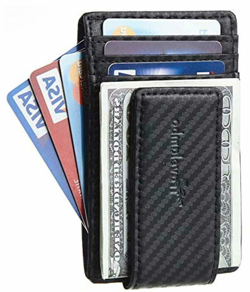money clip front pocket wallet slim leather