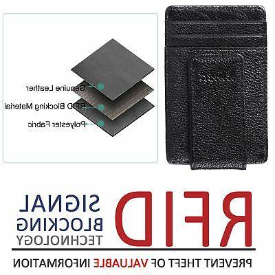 kinzd Pocket WalletLeather Blocking Strong Magnet thin