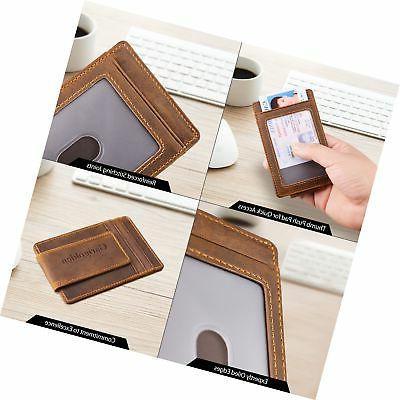 Garigolden Money RFID Wallet Men Brown