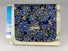 Money Clip, Lightweight and Strong, Blue & Gold Leaves, Wall