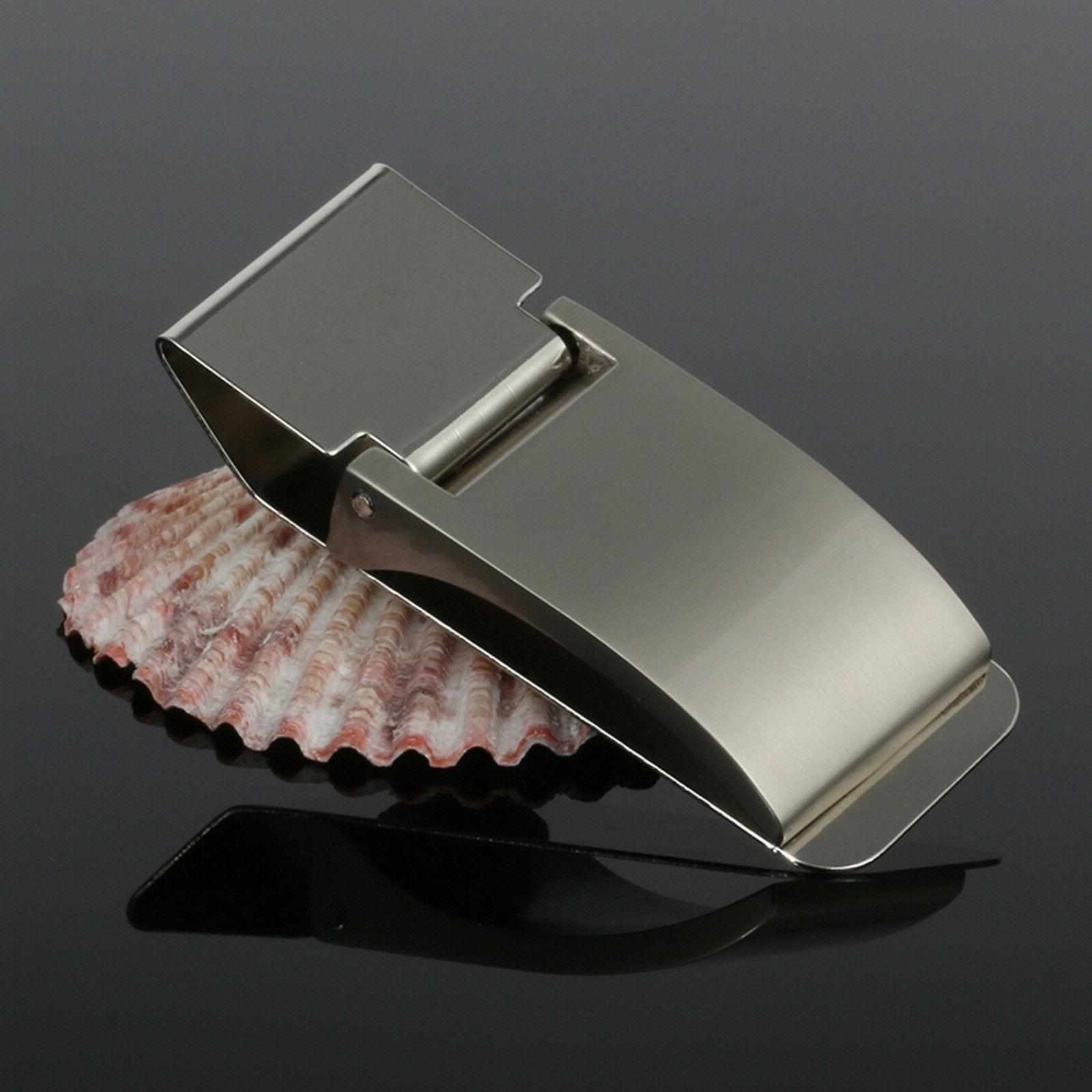 money clip note card holder stainless steel