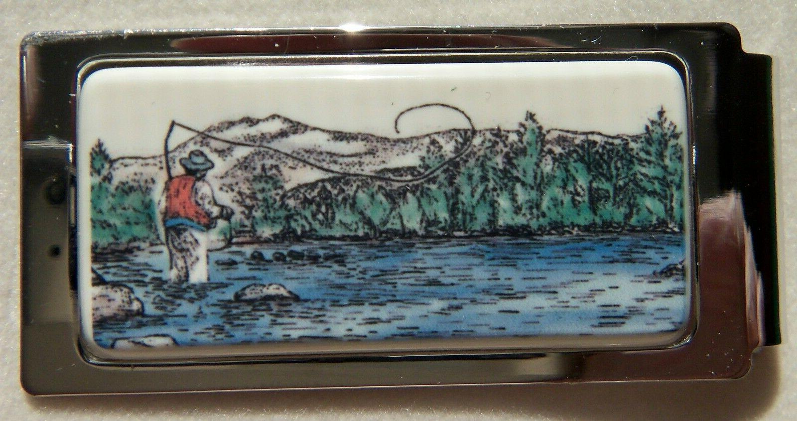 Money Clip Barlow Photo Reproduction In Color of Fisherman H