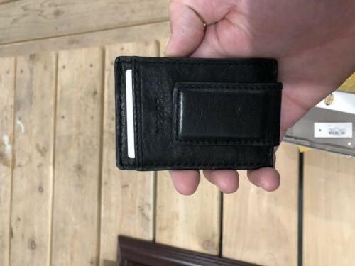 Fossil Money Brown Leather Magnetic Ingram Credit Holder