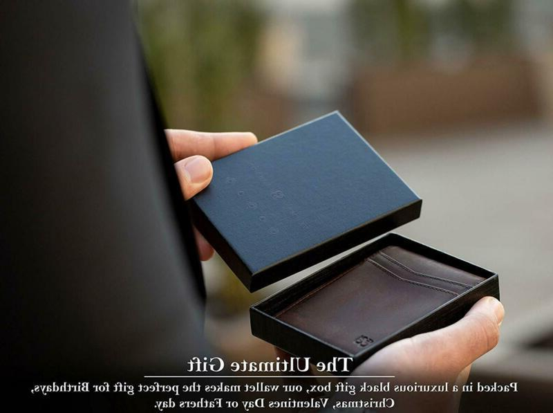 Serman Money Clip Wallet Slim Front Rfid Blocking C