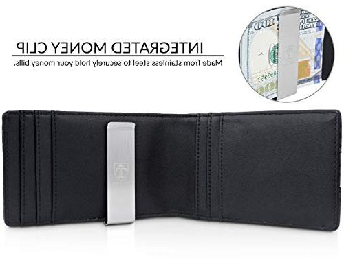 "TRAVANDO Clip Wallet""RIO"" Mens Front Wallet Blocking Credit Holder Bifold"