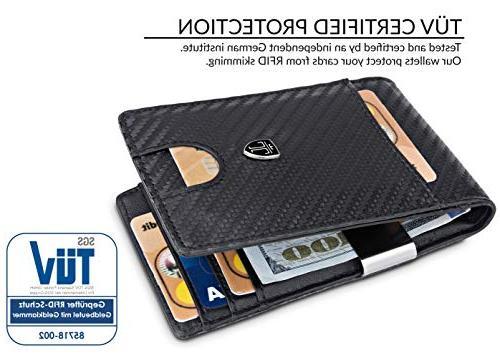 TRAVANDO Money Mens Front Wallet Slim Wallet Blocking | Holder Minimalist Bifold Gifts for