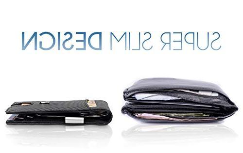 TRAVANDO Money Mens Wallet Front Wallet RFID Blocking | Holder Minimalist Bifold