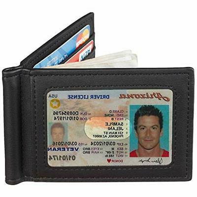 Travelambo Clips RFID Blocking Front Wallet