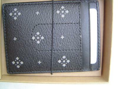NEW COACH DIAMOND FOULARD 3 1 CARD CASE/MONEY CLIP