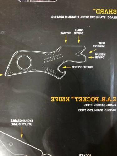 NEW Gerber Clip Folding Shard Key Chain Combo