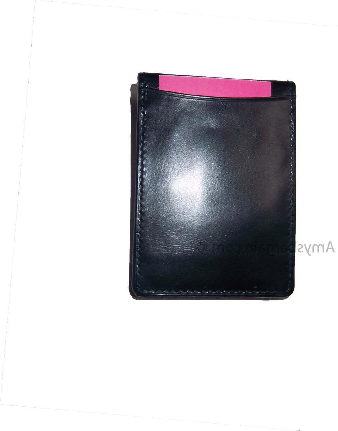 New Leather Money 3 1 holder silver metal