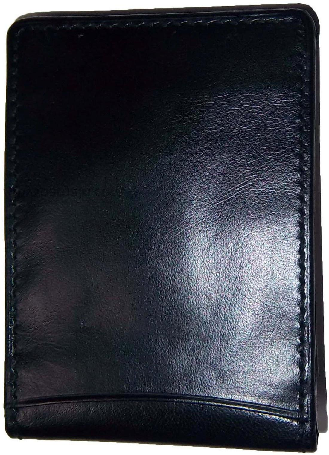 New Leather Money 3 holder silver metal clip