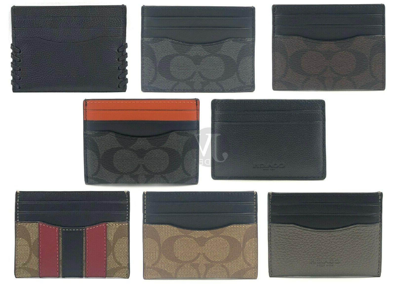 new men s leather pvc card holder