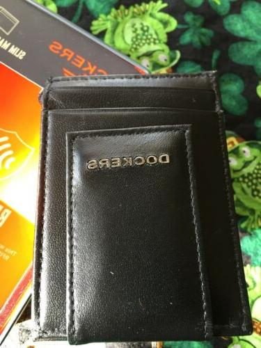 NEW-Men's Dockers Front Pocket Wallet with Magnetic Clip