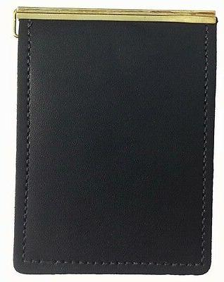 New Mens Slim Front Pocket Leather Money Clip Wallet Made in