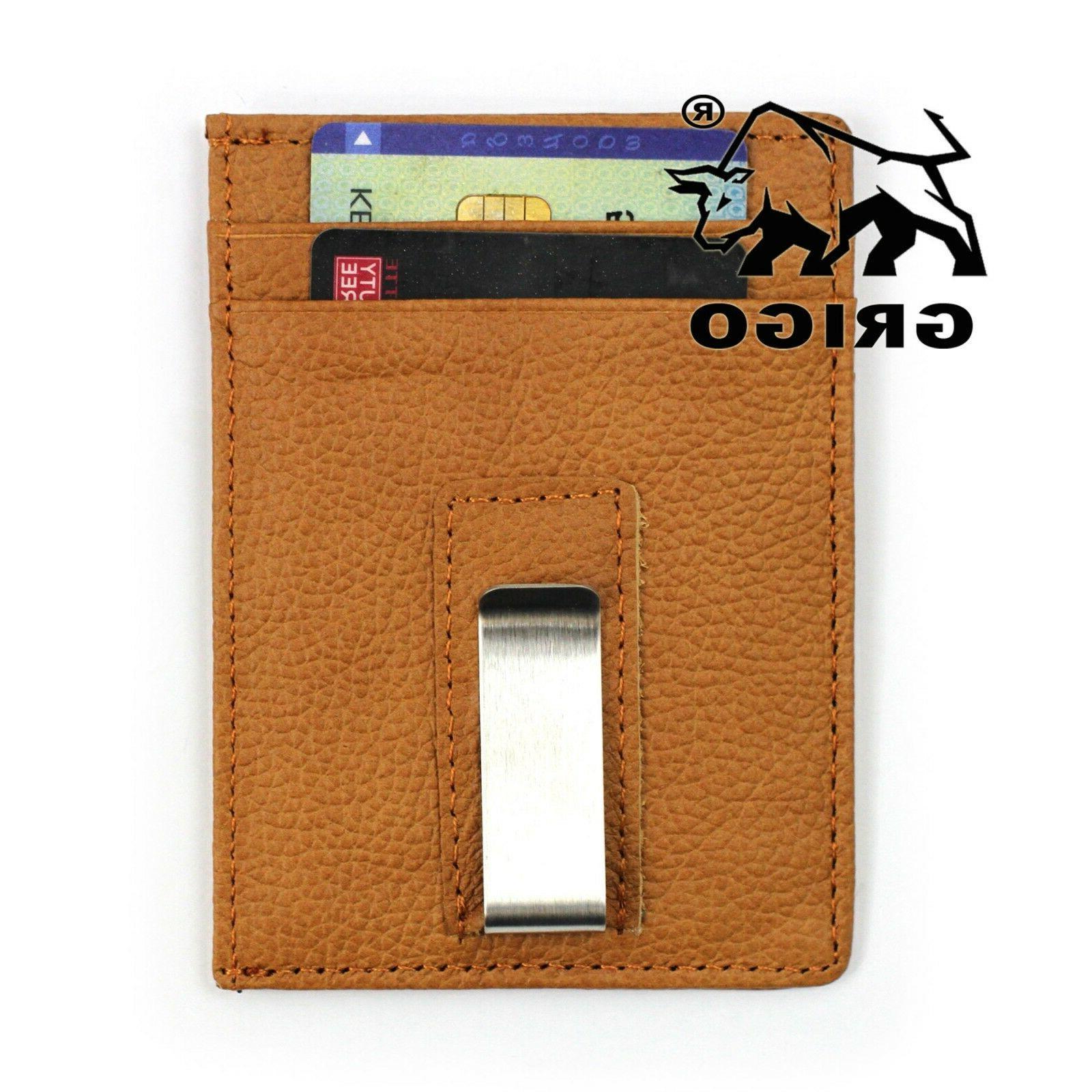 New Money Clip RFID Minimalist Man