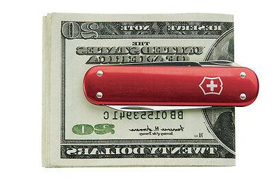 new swiss army money clip pocket knife