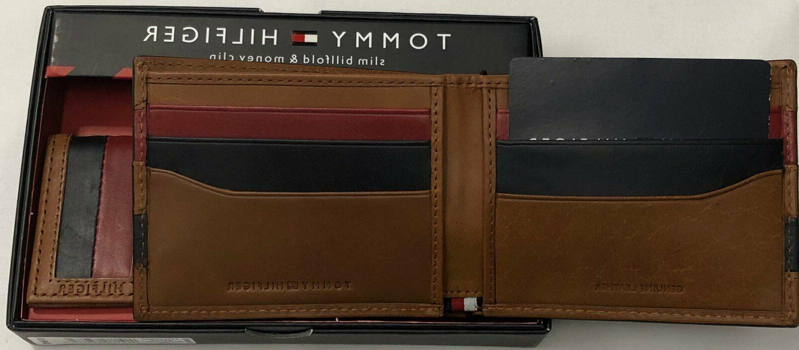 New Leather Slim Wallet Saddle Color