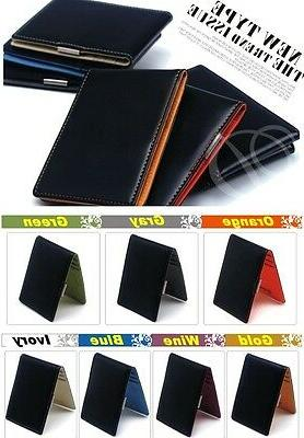 New type of European Money Clip Synthetic Leather 7 Colors F