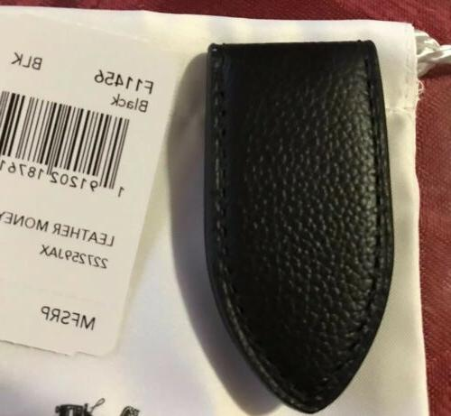New W/Tags Coach Leather Black