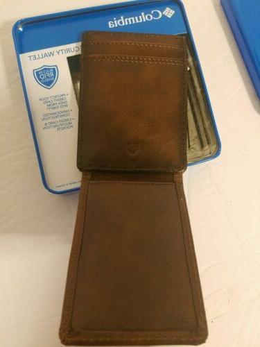 NIB Magnetic Brown Wallet