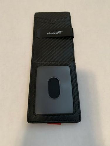 nwot mens wallet with money clip read
