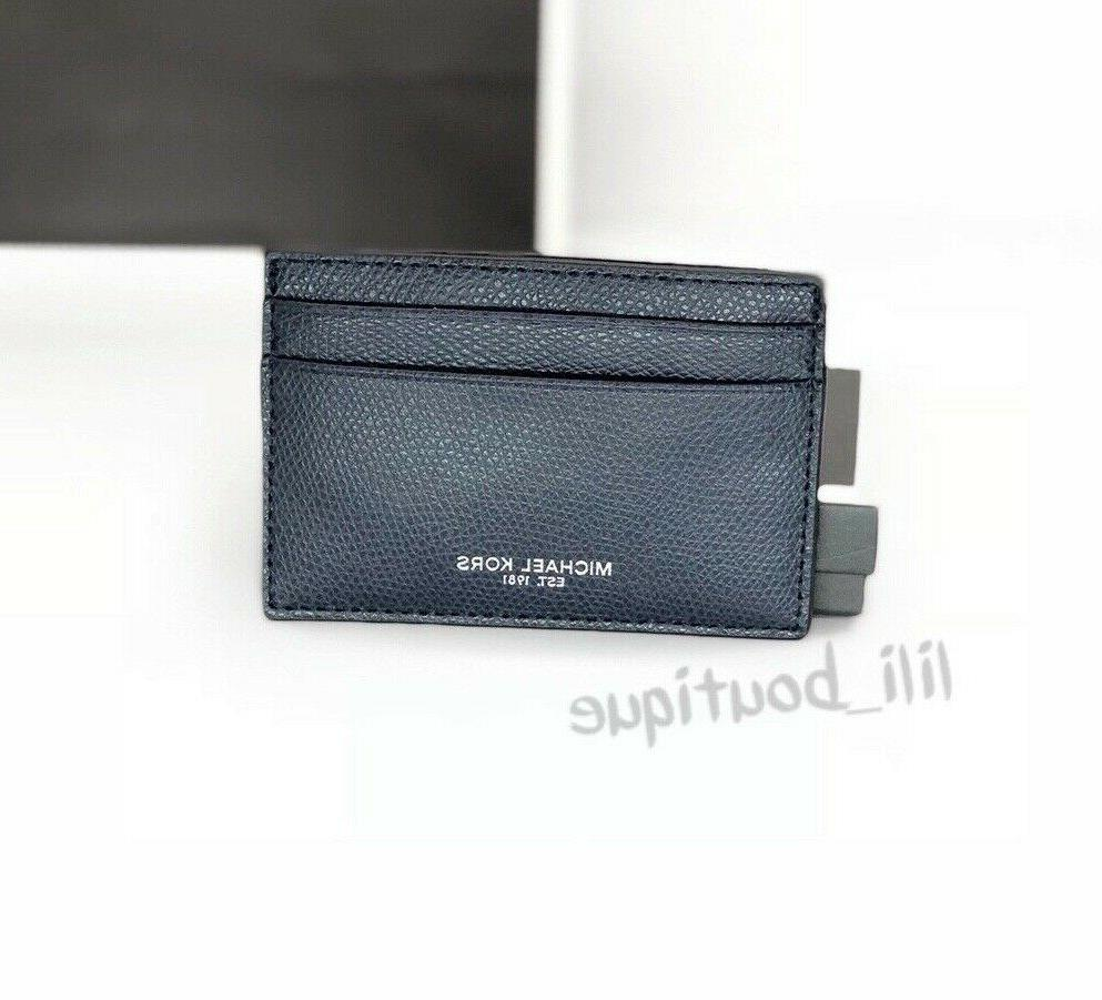 NWT NIB Michael Kors Men's Warren Card Case Money Clip Walle