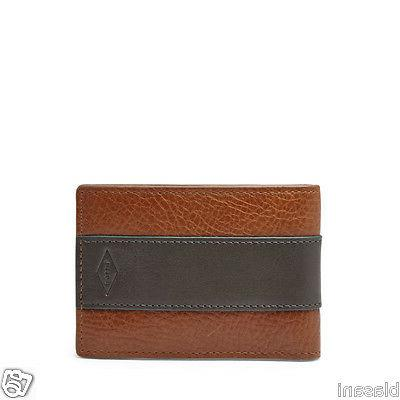 Fossil Original ML3672222 Cognac Charles Money Clip Bifold L