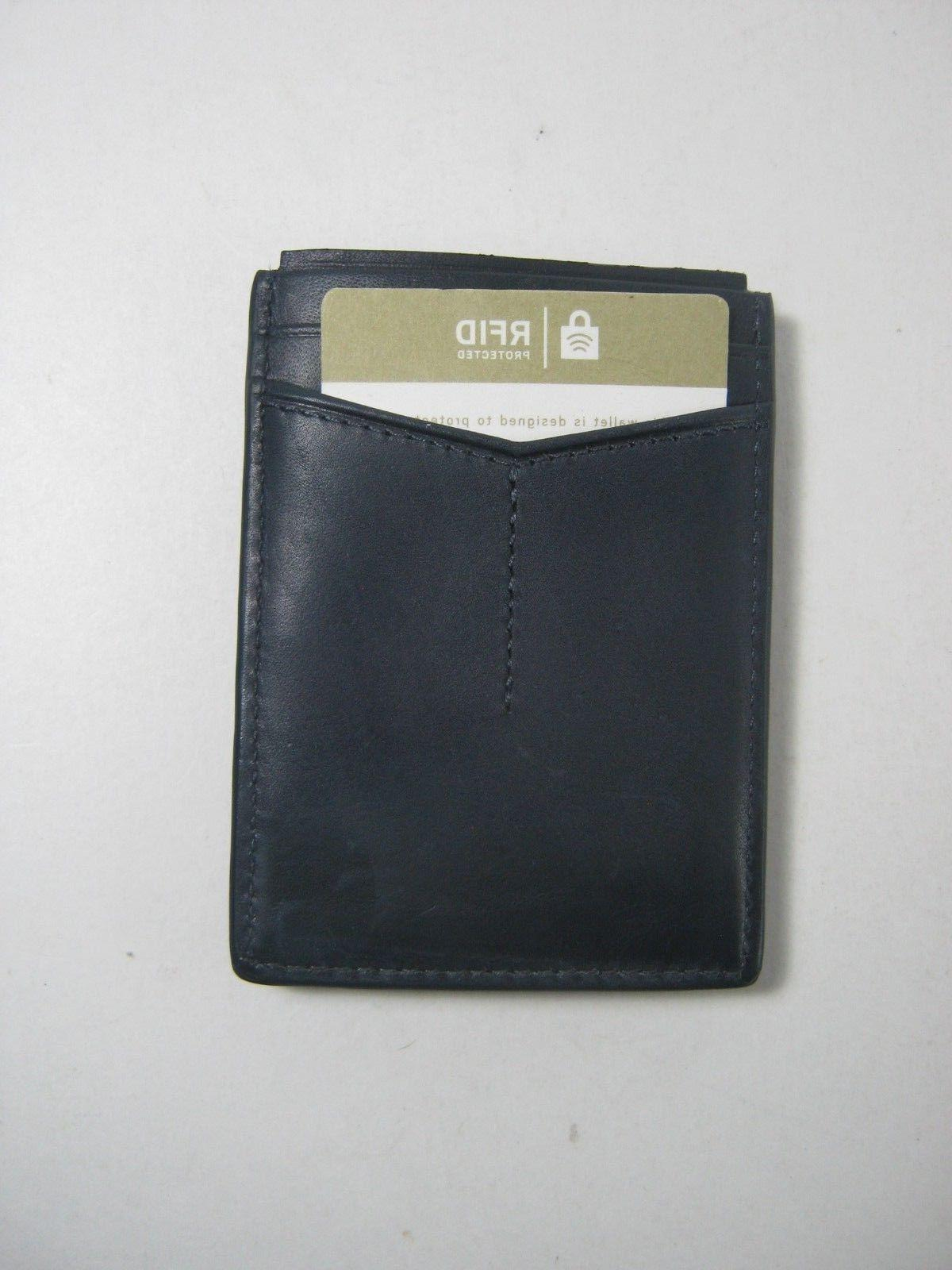 Fossil Blocking Card Case Wallet Navy