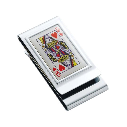personalized double sided queen of hearts money