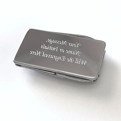 personalized engraved stainless steel 3 tool money