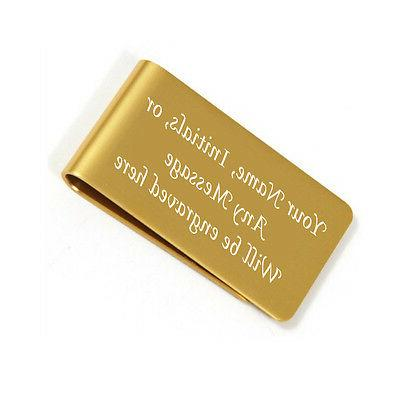 personalized free engraved gold money clip plus