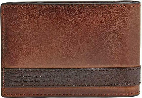 quinn money clip brown bifold