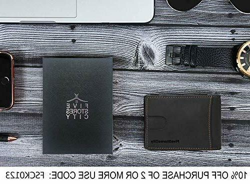 Real For Men Clip RFID Mens Wallet