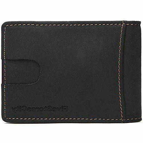 Real For Clip Card Holder Mens Wallet