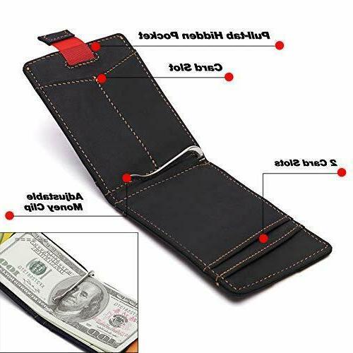Real Slim Wallets Clip RFID Card Holder Mens Wallet