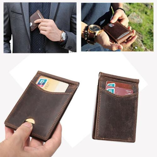 rfid bifold men s vintage slim genuine