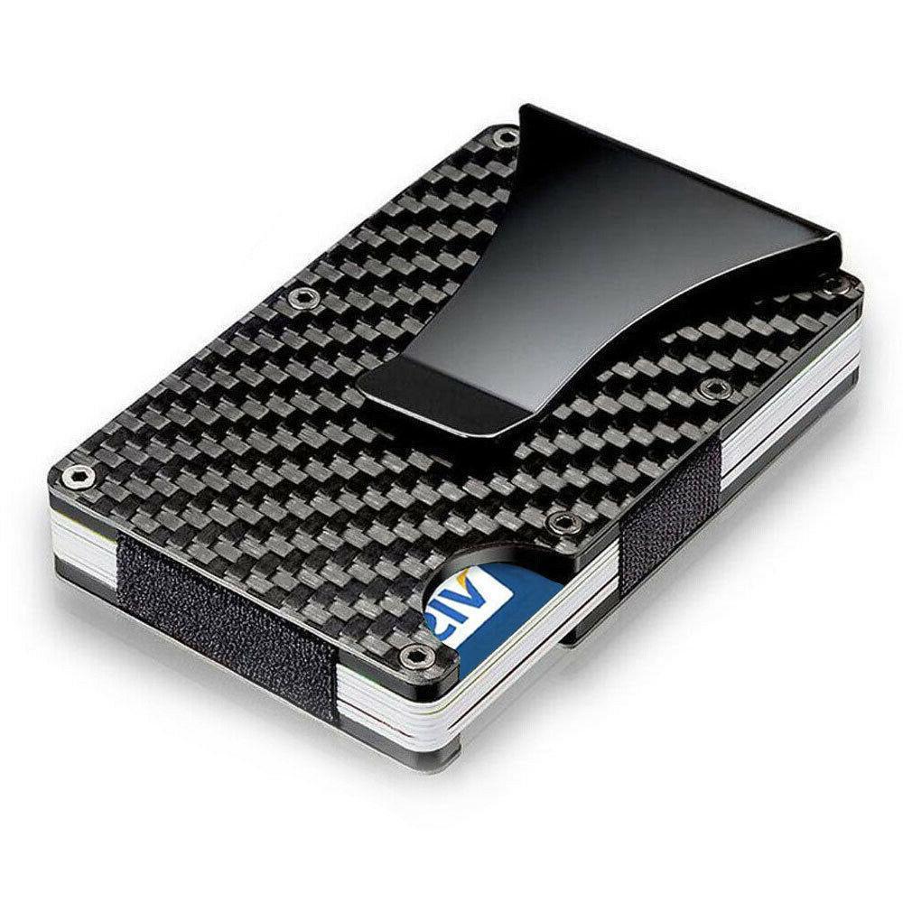 rfid blocking slim carbon fiber money clip