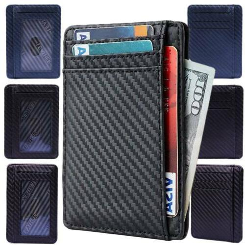RFID Blocking Fiber Minimalist Ridge Money Front Mens