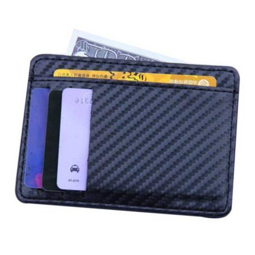 RFID Blocking Minimalist Ridge Clip Front Mens