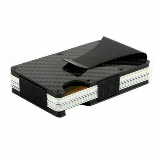 RFID Blocking Carbon Money Clip Wallet Card Holder Slim Purse
