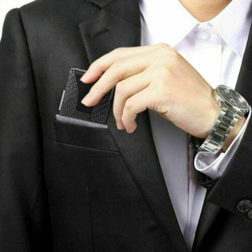 RFID Fiber Money Card Holder Slim Purse