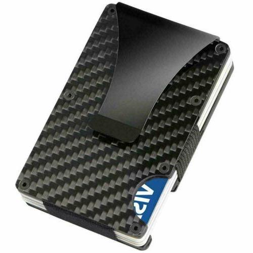 rfid blocking carbon fiber money clip mens